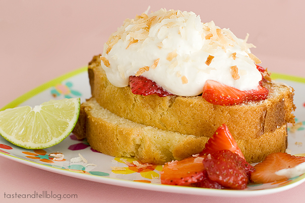 Strawberry-Lime Shortcakes with Coconut Cream | www.tasteandtellblog.com