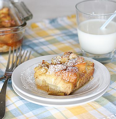 Baked Pear Vanilla French Toast | www.tasteandtellblog.com