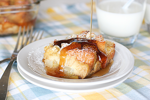 Baked Pear Vanilla French Toast on www.tasteandtellblog.com