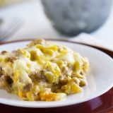 Comforting and creamy, this Green Chile Casserole is simple to prepare and reminds me of home.