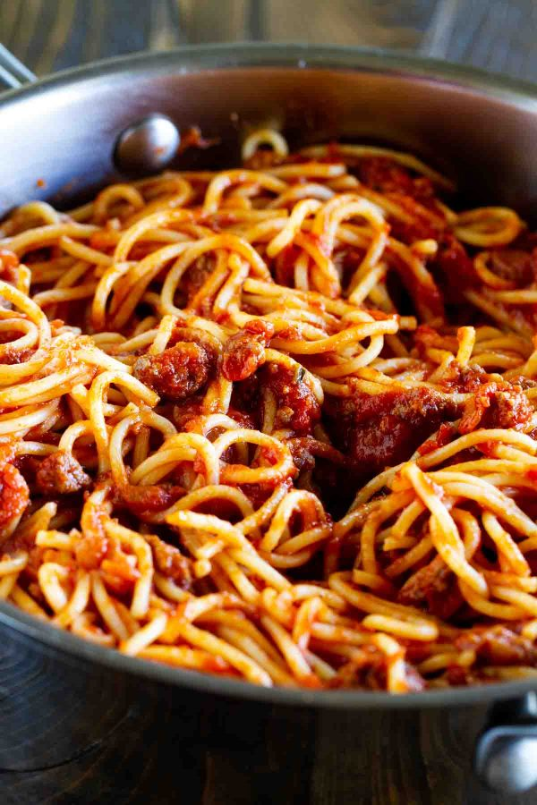 Fast and Easy Meat Sauce for Pasta