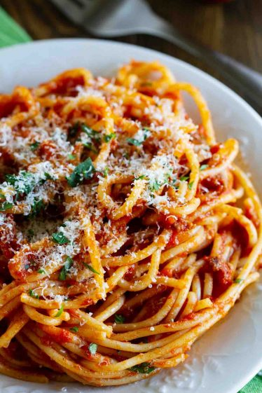 Easy meat sauce for spaghetti
