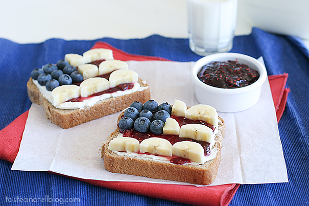 4th of July Toast | www.tasteandtellblog.com