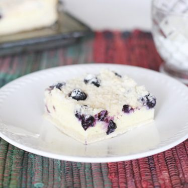 Blueberry Cream Cheese Crumb Cake | www.tasteandtellblog.com