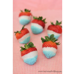4th of July Week – Festive Dipped Strawberries