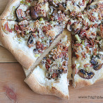 Leek, Mushroom and Bacon Pizza