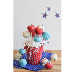 4th of July Week – Red and Blue Velvet Cake Pops