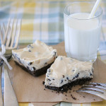 Chocolate Chip Peanut Butter Cheesecake Bars | www.tasteandtellblog.com