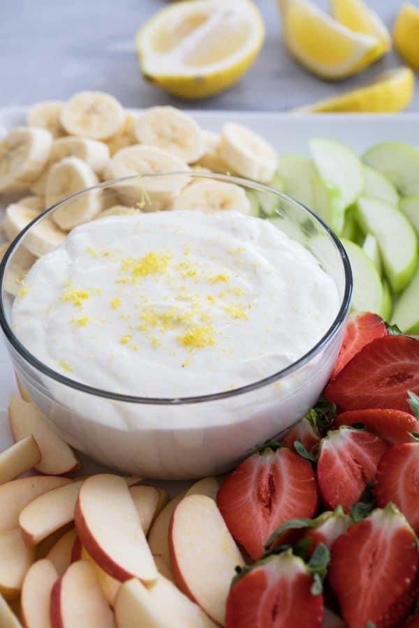 Easy Lemon Cream Cheese Fruit Dip Taste And Tell