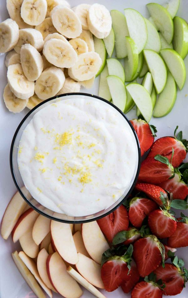Easy Fruit Dip Recipe - Lemon Cream Cheese Fruit Dip