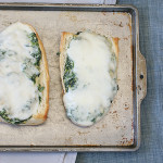 Spinach-Artichoke French Bread Pizza {Saturdays with Rachael Ray}