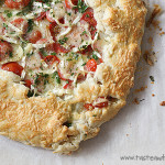 Tomato, Caramelized Onion and Brie Galette | www.tasteandtellblog.com