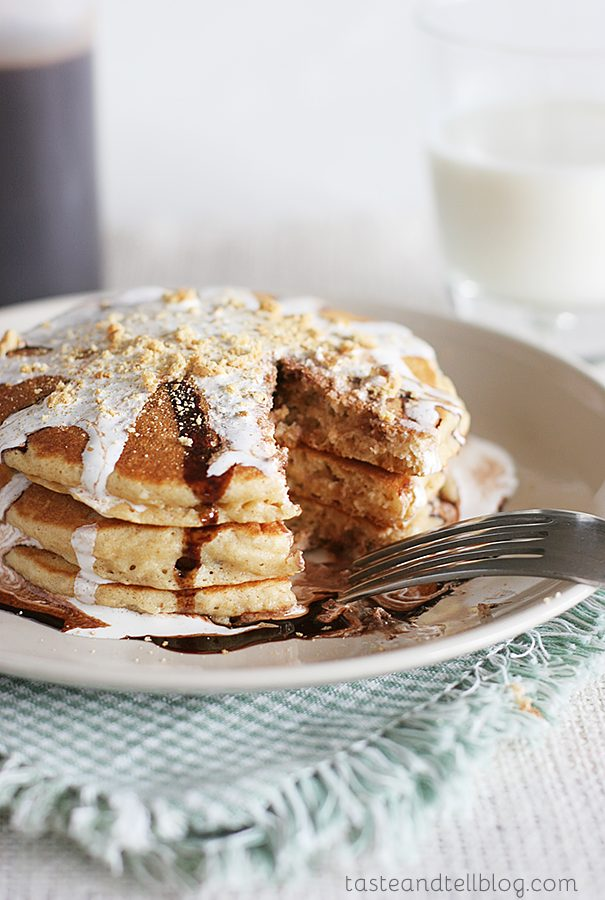 S'mores Pancakes | Taste and Tell