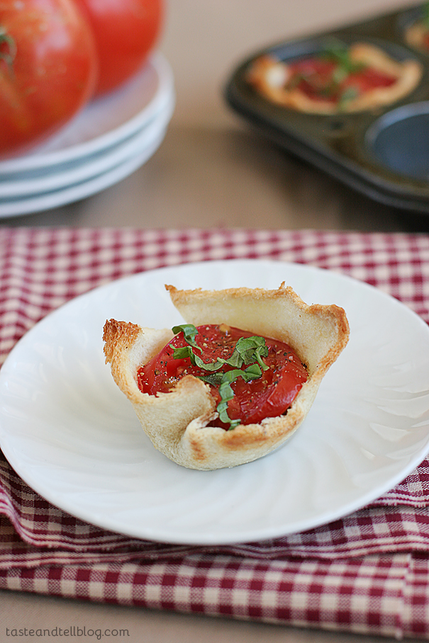 Caprese Tartlets | www.tasteandtellblog.com