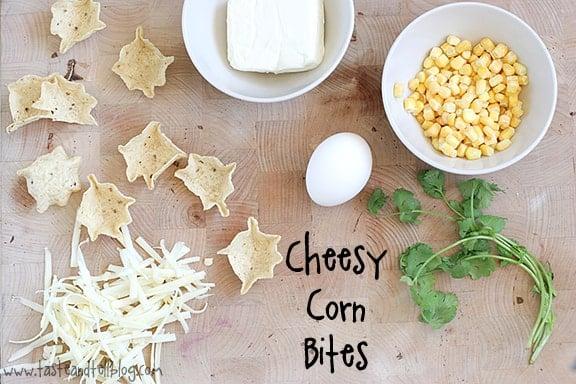Cheesy Corn Bites   Taste and Tell