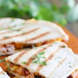 Grilled Chicken Quesadillas with semi-homemade flat bread
