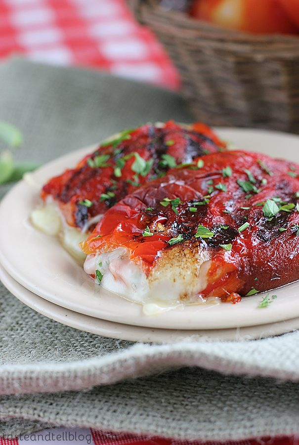 Saturdays with Rachael Ray – Grilled Roasted Red Peppers Stuffed with Cheese