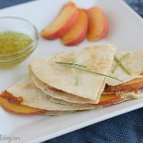 Peach and Brie Quesadillas | www.tasteandtellblog.com