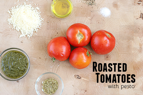 Ingredients for Roasted Tomatoes with Pesto