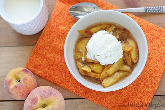 Scalloped Peaches   www.tasteandtellblog.com