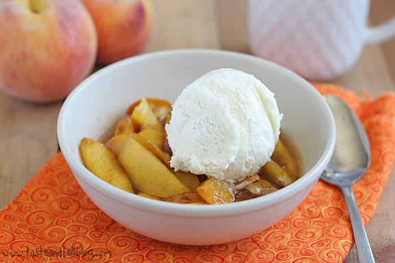 Scalloped Peaches | www.tasteandtellblog.com