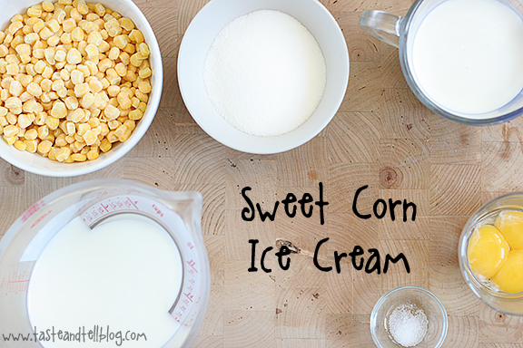 Sweet Corn Ice Cream with Salted Caramel Sauce | www.tasteandtellblog.com