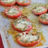Tomatoes Roasted with Pesto | www.tasteandtellblog.com