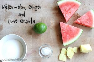 Watermelon, Ginger and Lime Granita | www.tasteandtellblog.com