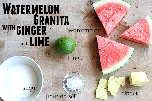 Ingredients for Watermelon Granita
