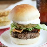 Bacon, Lettuce and Fried Green Tomato Sliders | www.tasteandtellblog.com
