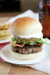 Bacon, Lettuce and Fried Green Tomato Sliders | www.tasteandtellblog.com