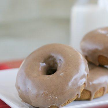 Baked Pumpkin Doughnut Recipe with Maple-Cinnamon Glaze