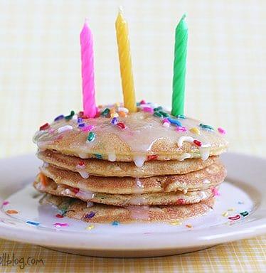 Birthday Cake Pancakes | www.tasteandtellblog.com