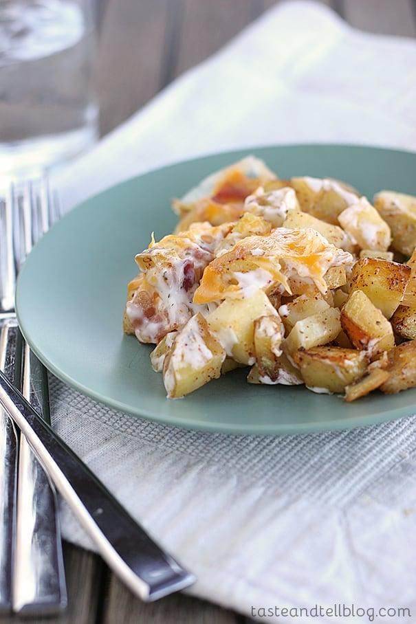 Cheesy Ranch Potato Bake | www.tasteandtellblog.com