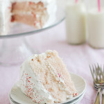 Cherry Chip Cake with Fluffy Frosting | www.tasteandtellblog.com