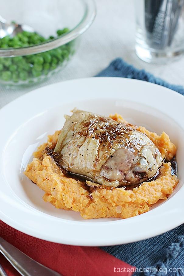 Honey-Balsamic Chicken Thighs on Taste and Tell