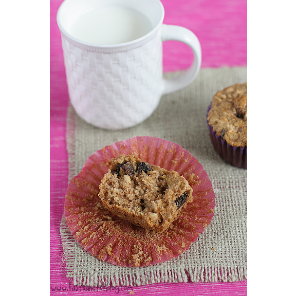Oatmeal Raisin Cookie Muffins | www.tasteandtellblog.com