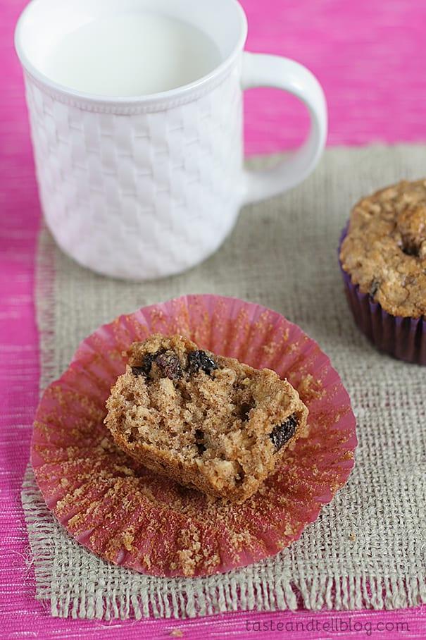 Oatmeal Raisin Cookie Muffins   www.tasteandtellblog.com