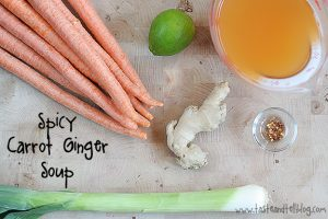 Spicy Carrot Ginger Soup from www.tasteandtellblog.com