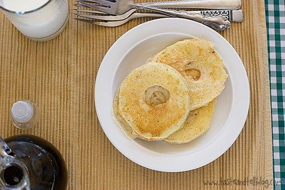 Apple Pancake Rings   www.tasteandtellblog.com
