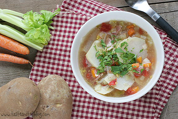 ... Rachael Ray - Bacon, Leek, Tomato and Potato Soup - Taste and Tell