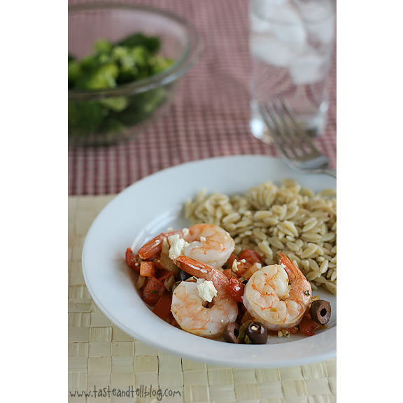 Baked Shrimp with Tomatoes and Feta - Taste and Tell