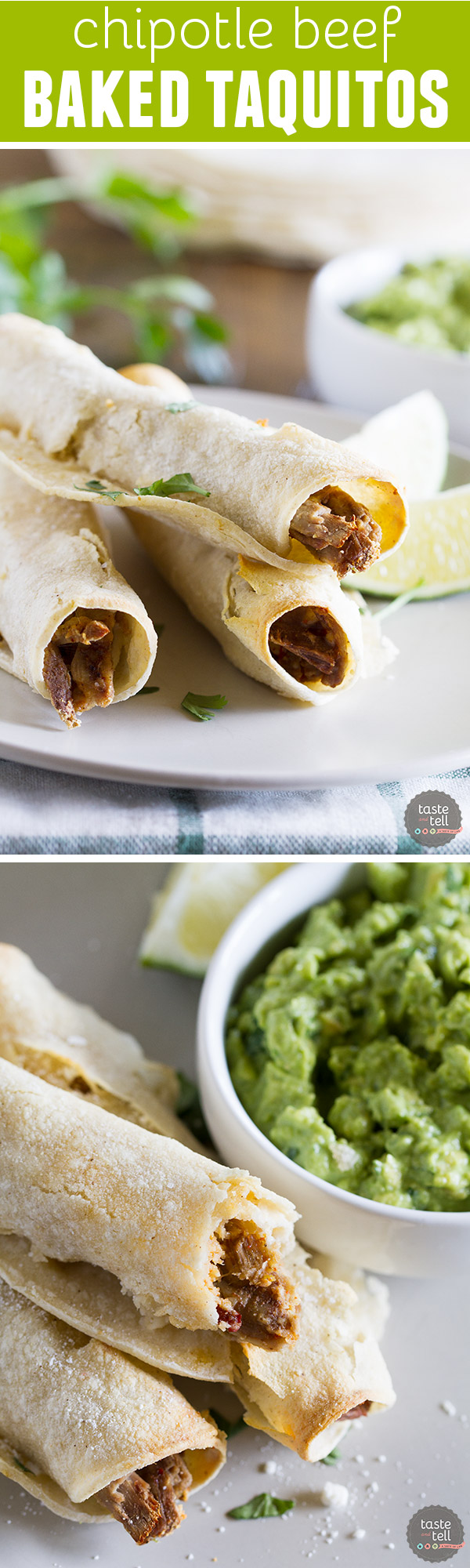Wondering what to do with that leftover Sunday roast? Turn it into this Chipotle Beef Baked Taquito recipe and those leftovers will disappear!
