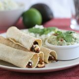 Chipotle Beef Baked Taquitos | www.tasteandtellblog.com