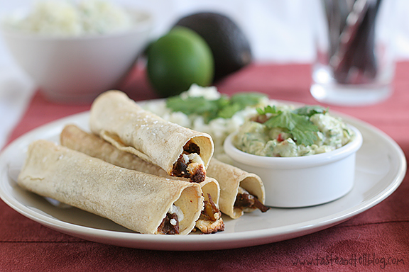 Chipotle Beef Baked Taquitos