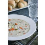 Creamy Wild Rice and Turkey Soup | www.tasteandtellblog.com