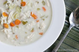 Slow Cooker Creamy Wild Rice and Turkey Soup | www.tasteandtellblog.com