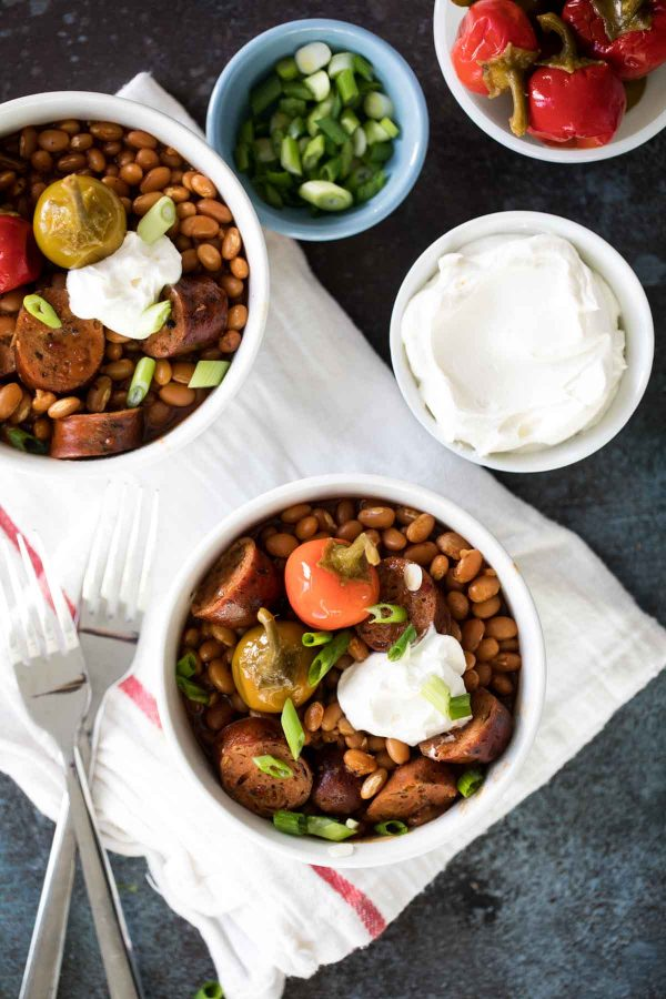 Recipe for Crock Pot Beans and Sausage