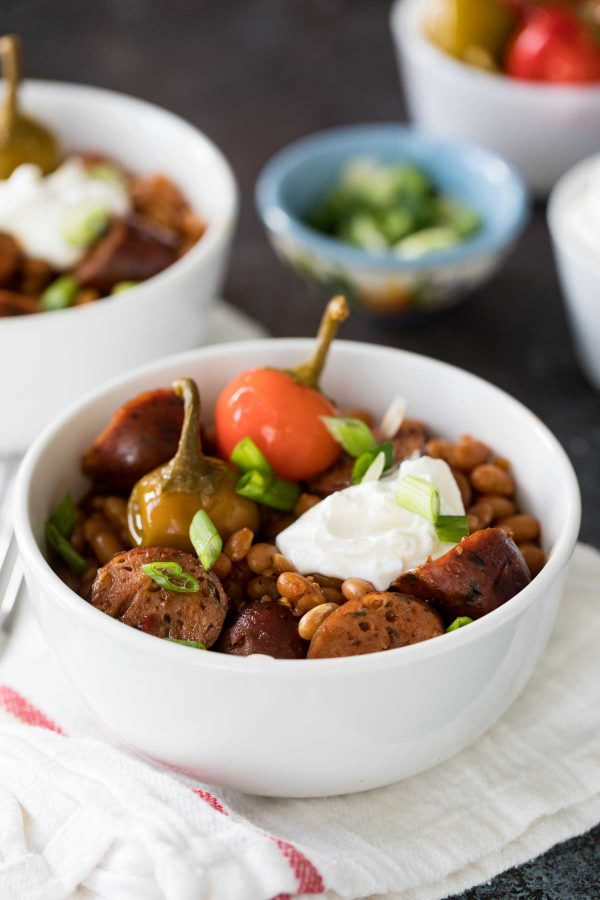 How to make Crock Pot Beans and Sausage