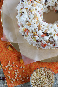 Halloween Popcorn Cake | www.tasteandtellblog.com